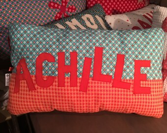 Rectangle cushion 30 x 50 cm personalised with name