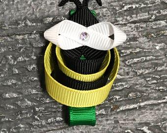Hair Clip Ribbon Sculpture Headband Bow Animal Honey Bumble Bee