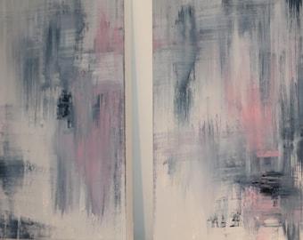 Abstract art. 2 x artworks (Set)