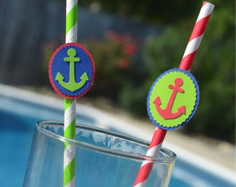 Anchor Straws, Anchor confetti, Anchor food picks