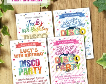 PRINTED & DELIVERED   12x Paw Patrol Birthday Invitations   For Boy or Girl   Any Age   Any Message   Blue   Pink