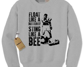 Float Like A ButterFly Muhammad Ali Tribute Adult Crewneck Sweatshirt