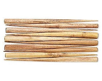 "Brown Hair Stick, Wood Hair Stick, end drilled, Wooden, 6"" long, sold per pair, D391"