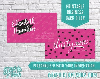 Printable, Personalized Thirty-one Independent Consultant Double Sided Business Cards | Digital JPG, PNG & PDF Files