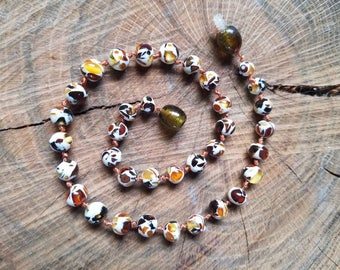 11.75in Mosaic Baltic Amber Teething Necklace