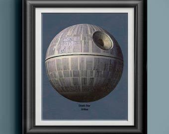Darth Vadar's Imperial Death Star Star Wars Poster Star Wars Decor Star Wars Gift for Nerd Cave Art Star Wars Artwork Gift for Him PP 4761