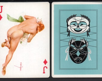 Alberto Vargas 1950's Vargas Girl Playing Card Swap Card JACK OF DIAMONDS Near Mint / Mint