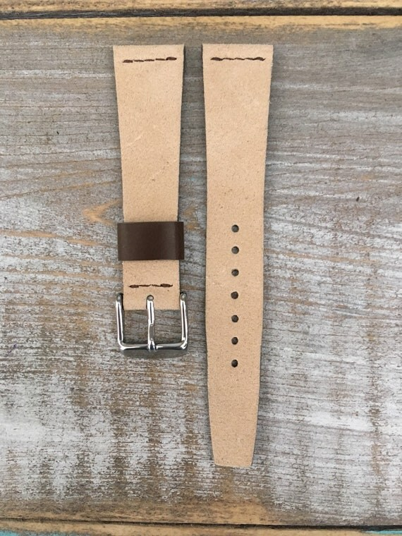 20/16mm VTG style Sude watch band - Sand