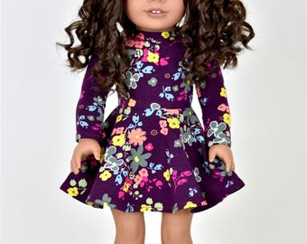 Blooming Plum Dress 18 inch doll clothes