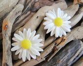 Large Daisy Stud Earrings Studs Sun Flower Summer Yellow Happy Festival Hippie Earring Boho Earring Ear Rings Sunflower