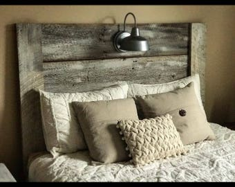 Rustic Headboard With Galvanized Light Vintage Rustic Bedroom Decor Country Home Decor