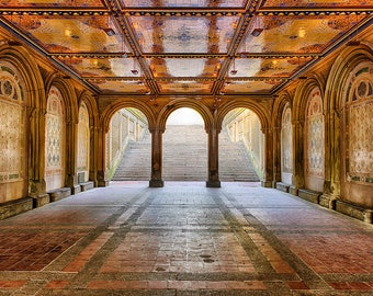 Fine Art Prints New York Photography Travel Gift Central Park NYC Affordable Wall Manhattan Fine Art Deco Architectural Bethesda Terrace