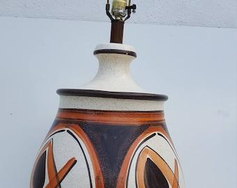Italian  Art  Handmade  Studio Pottery Table Lamp .