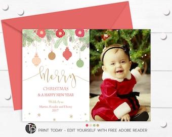 Christmas photo card etsy christmas photo card instant download editable christmas card christmas cards christmas photo solutioingenieria Gallery