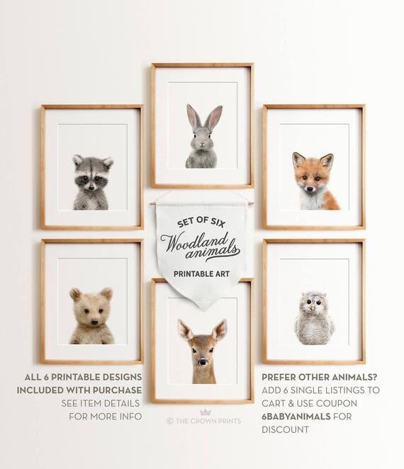Nursery Animals Prints Printable Art Woodland Animals Decor