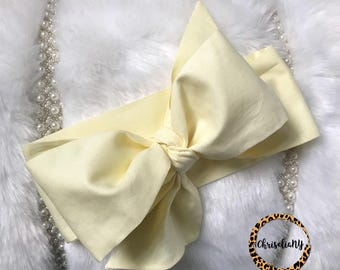 Soft Yellow Headwrap, Baby Head Wrap,  Fabric Head Wrap, Newborn Head Wraps, Toddler Headwraps, Turban Headwraps, Yellow Headband