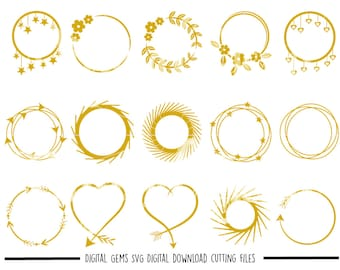 Tribal Circles, Arrow Circle Frames svg / dxf / eps / png files. Digital download. Compatible with Cricut and Silhouette machines.