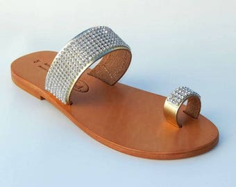 Leather Sole Sandals Etsy
