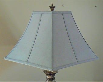 vintage square lampshade green lamp shade fabric lamp shade light shade vintage