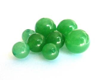 Pearl Ø 4 mm PCH030 green aventurine has individually gemstone gemstone semi precious