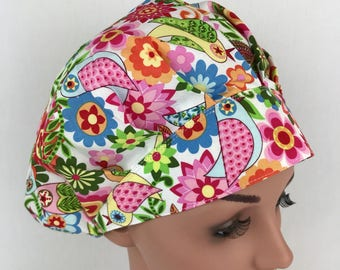Bouffant Surgical Scrub Hats Scrub Hats for Women Medical Hats Scrub Tech Cap Operating Room Nurse Hat Scrub Caps Surgical Cap