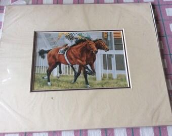 Race horse print