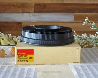 Vintage Kodak carousel slide tray 140 Slide projector tray  Original box