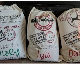 Customized Santa bag, Christmas bag, Santa Claus bag, canvas Santa bag, personalized Santa bag, Christmas bags, Santa, sacks