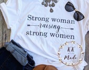 Mom of girls shirt, girl mom shirt, raising girls shirt, strong mom shirt, mom life t-shirt, mother's day gift, new mom gift, girl mama