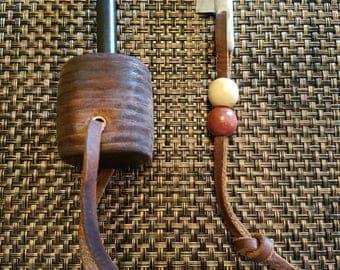 Leather Handle Ferro Rod with Striker