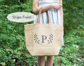 Monogrammed Weekender Bag-Gift for Her-Gift for Mom-Anniversary Gift for Wife-Mothers Day gift-Travel Tote Bag-hospital bag for labor