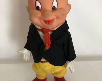 Elmer Fudd Rubber Doll by R. Dakin & Company, Warner Bros. Seven Arts Inc., 1968, Made in Hong Kong, Vintage Rubber Doll