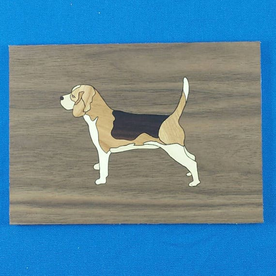 "Beagle 5""x 7"" Marquetry Kit"