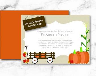 Fall Baby Shower, Pumpkin Invitation, lil pumpkin, Autumn Invitation, Autumn Baby Shower, Pumpkin Baby Shower