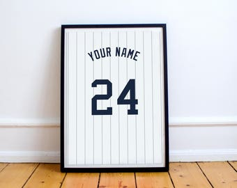 New York Yankees - Customisable Name and Number Print.
