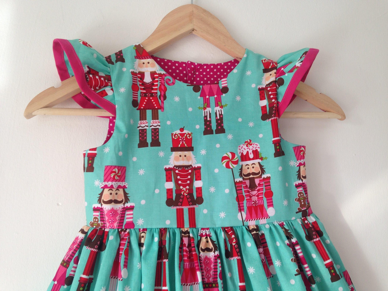 Nutcracker, girls christmas dress, baby girls, flutter sleeves, xmas ...