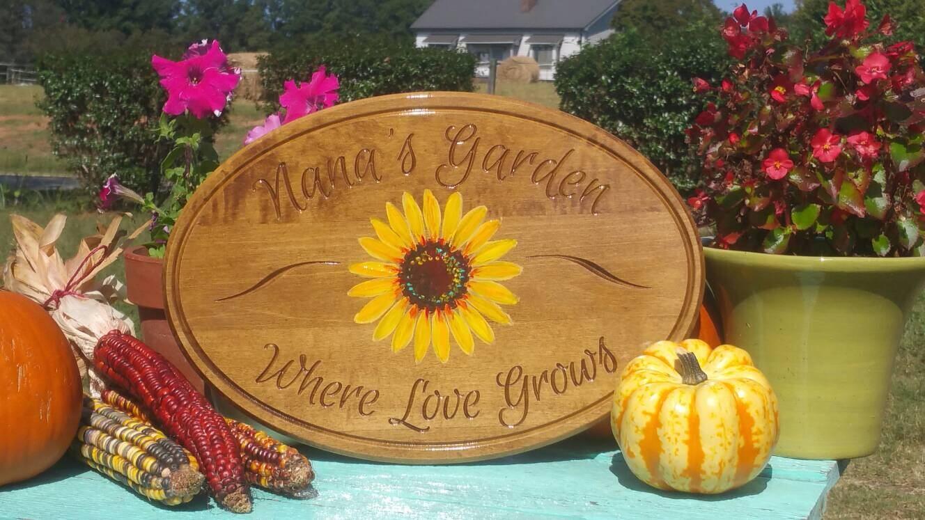 Nana\'s Garden Sign Wood Zen Garden Garden Decor Custom Personalized ...
