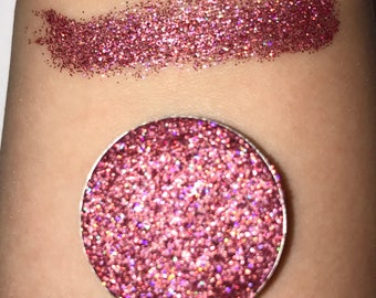 Holographic Pink Pressed Glitter Eyeshadow