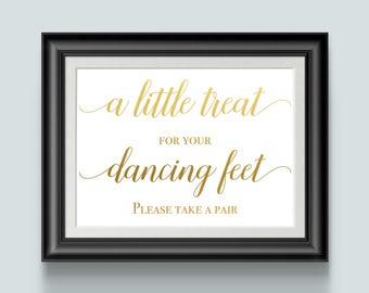 wedding flip flops for women, wedding feet, guest shoes, gold foil, please take one, wedding sign decor, reception shoes, treat favors