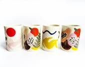 White Matisse collage planters