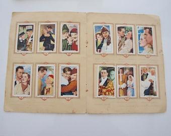 Vintage, 1935, Green Back, Gallaher, Complete, Full Set Of 48, Famous Film Scene, Film Stars, Cigarette Cards, Album, Collectible, Mother