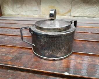 Vintage Silver plated bowl, Vintage silver sugar bowl, Sugar Bowl. Silver Plate Sugar Bowl