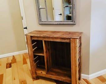 Handmade rustic foyer table