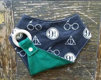Harry Potter (dark) Reversible Waterproof Interchangeable Teething Bib
