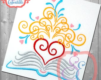 HEART FLOURISH BOOK Embroidery Design For Machine Embroidery