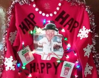 Ugly Christmas Sweater Star Trek Contest Winner Spock X-mas