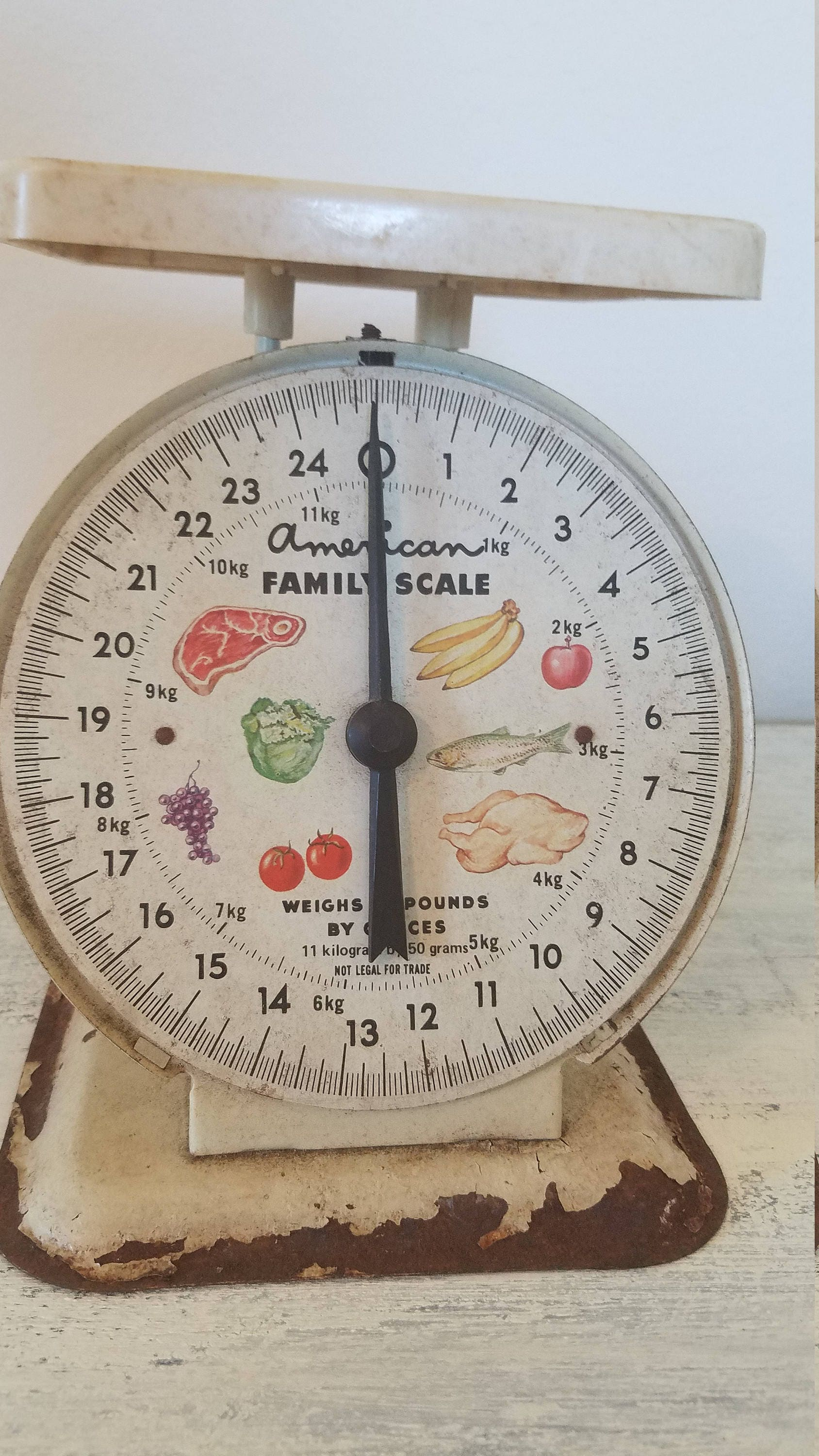 Vintage american family scale kitchen rustic americana decor for Rustic kitchen scale