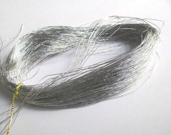 5 m silver 0.5 mm nylon thread