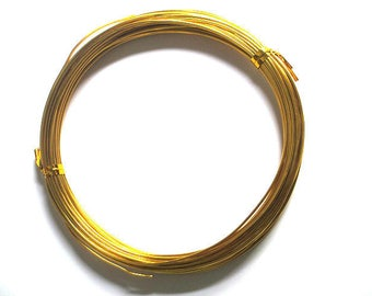 10 m color gold 0.8 mm aluminum wire on spool