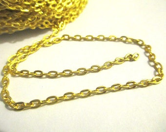 1 meter of gold metal chain link 2.5 mm
